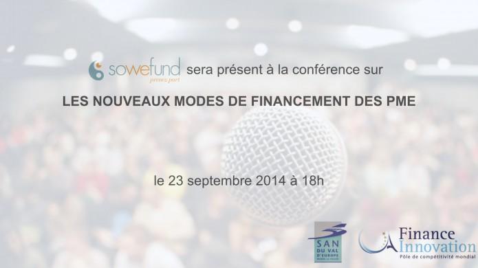Sowefund sera présent à la conférence sur les nouveaux modes de financement des PME