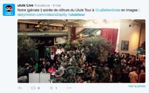 Le compte Ulule_Live de Ulule faire vivre ses évènement en direct